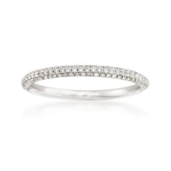 Simon G. .26 ct. t.w. Diamond Wedding Ring in 18kt White Gold, , default