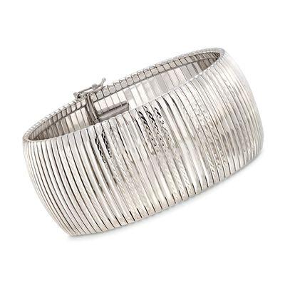 Italian Diamond-Cut Cubetto Bracelet in Sterling Silver, , default