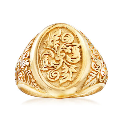 Italian Signet Ring in 14kt Yellow Gold, , default
