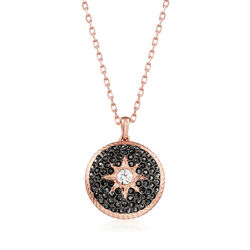 Swarovski Crystal Locket Pendant Necklace in Rose Gold-Plated Metal, , default