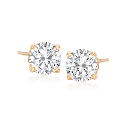 1.20 ct. t.w. Diamond Stud Earrings in 14kt Yellow Gold