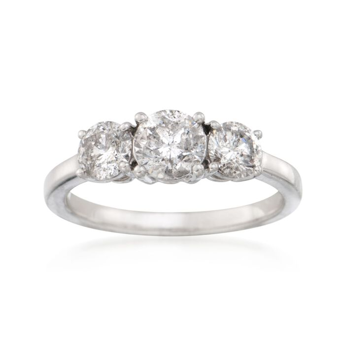 1.50 ct. t.w. Diamond Three-Stone Ring in 14kt White Gold, , default