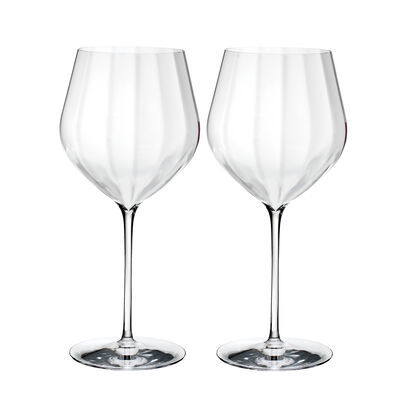 "Waterford Crystal ""Elegance Optic"" Set of Two Big Red Wine Glasses, , default"