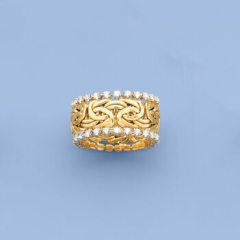 1.25 ct. t.w. CZ Byzantine Eternity Band in 14kt Yellow Gold, , default