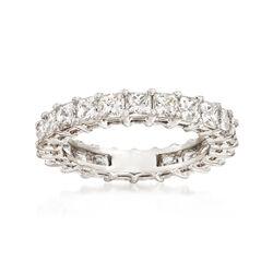 3.00 ct. t.w. Princess-Cut Diamond Eternity Band in Platinum, , default