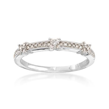 .15 ct. t.w. Diamond X Ring in 14kt White Gold, , default