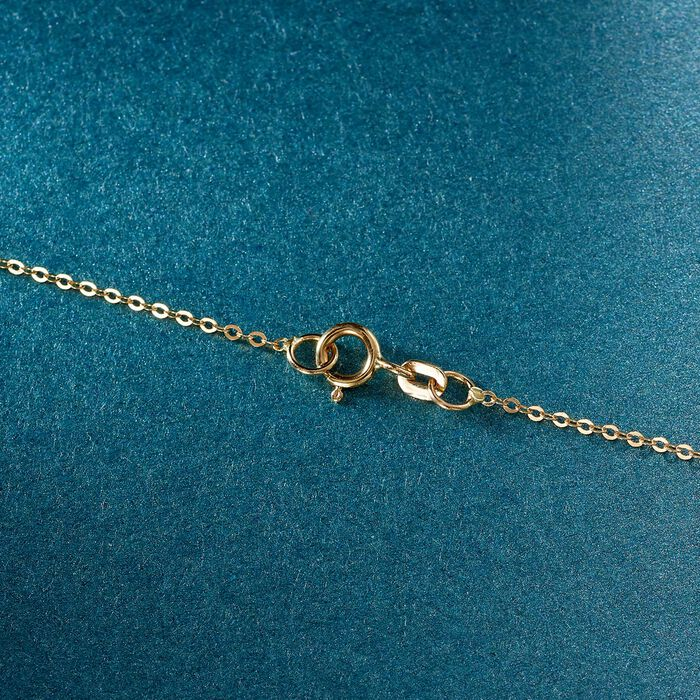 Italian 18kt Yellow Gold Cross Pendant Necklace
