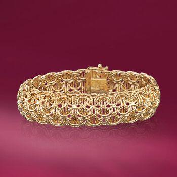 "Italian 14kt Yellow Gold Multi-Link Bracelet. 7.5"""
