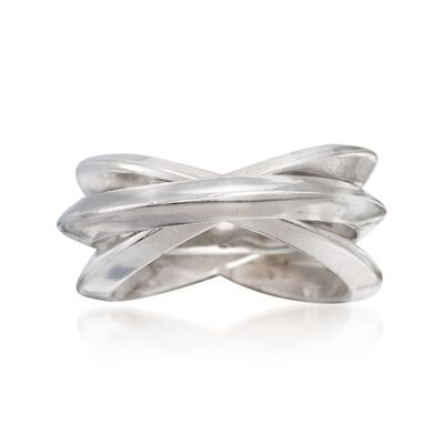 Italian Sterling Silver Rolling Ring, , default