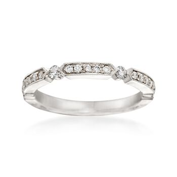 Henri Daussi .25 ct. t.w. Diamond Wedding Ring in 14kt White Gold, , default