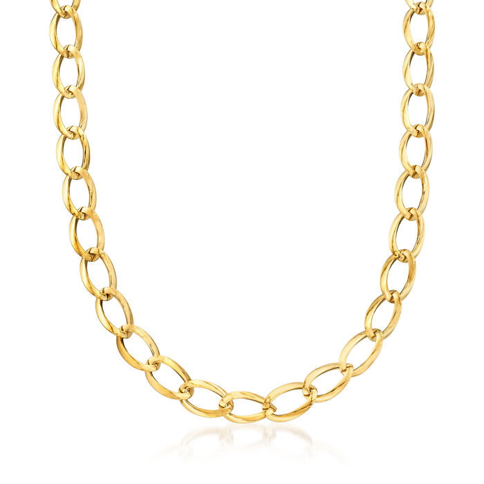 Italian 18kt Yellow Gold Link Necklace