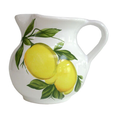 Abbiamo Tutto Italian Lemon Ceramic Pitcher, , default