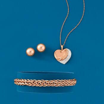 18kt Rose Gold Wheat-Link Bracelet
