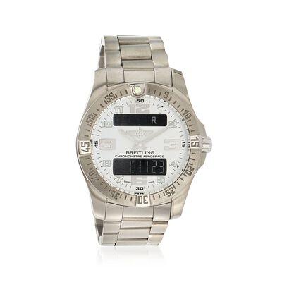 Breitling Aerospace Evo Men's 40mm Digital/Analog Titanium Watch, , default