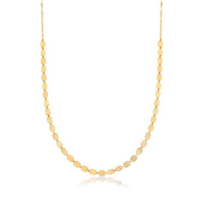 Italian Mirror-Link Chain Necklace in 18kt Yellow Gold, , default