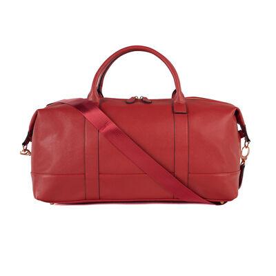 "Brouk & Co. ""Alexa"" Faux Red Leather Duffel Bag, , default"
