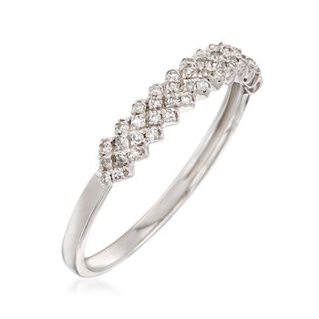 .14 ct. t.w. Diamond Chevron Ring in 14kt White Gold, , default