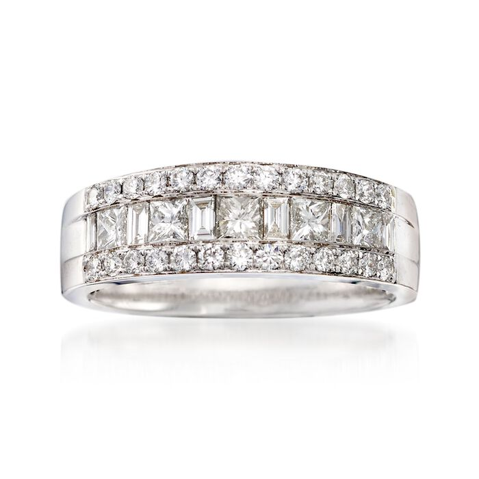 1.00 ct. t.w. Diamond Ring in 18kt White Gold. Size 7