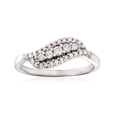.25 ct. t.w. Diamond Wave Ring in 14kt White Gold, , default