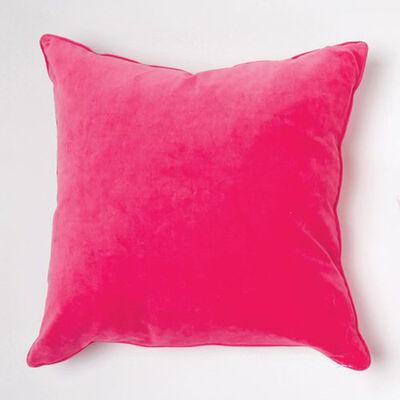Set of 2 Pink Velvet Throw Pillows, , default