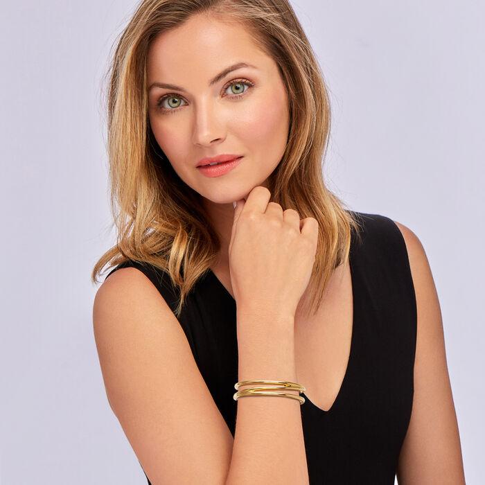 C. 1980 Vintage Tiffany Jewelry 18kt Yellow Gold Cuff Bracelet