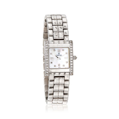 C. 2000 Vintage Concord Women's .62 ct. t.w. Diamond 20mm Watch in 14kt White Gold, , default