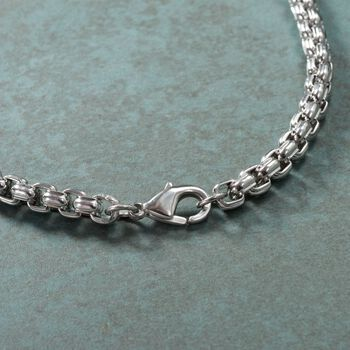 "Men's 5.5mm Stainless Steel Box Chain Necklace. 24"", , default"