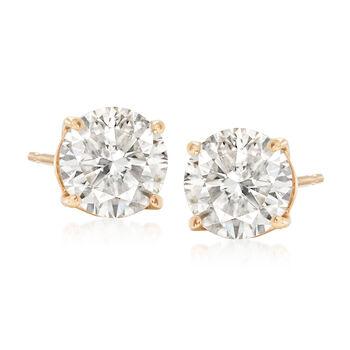 2.25 ct. t.w. Diamond Stud Earrings in 14kt Yellow Gold , , default