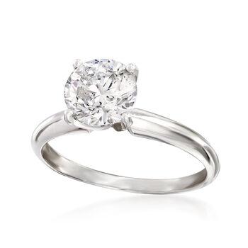 1.50 Carat Diamond Solitaire Ring in Platinum