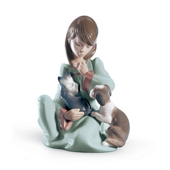 "Lladro ""Cat Nap"" Porcelain Figurine , , default"