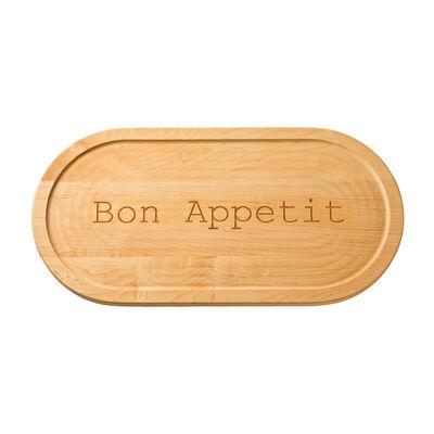 """""""Bon Appetit"""" Maple Wood Serving Board, , default"""