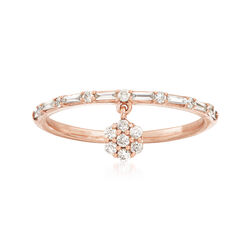 .25 ct. t.w. Diamond Charm Ring in 14kt Rose Gold, , default