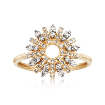 .50 ct. t.w. Diamond Star Burst Ring in 14kt Yellow Gold, , default