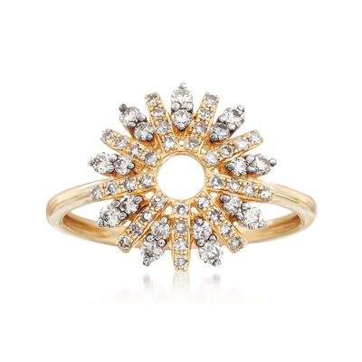 .50 ct. t.w. Diamond Star Burst Ring in 14kt Yellow Gold, , default