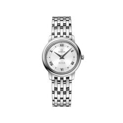Omega De Ville Prestige Women's 27mm Stainless Steel Watch With White Dial , , default
