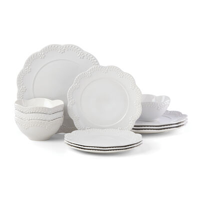 "Lenox ""Chelse Muse"" Floral White Ironstone Dinnerware Set , , default"