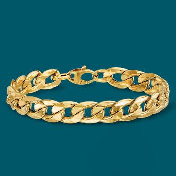 Italian 14kt Yellow Gold Curb-Link Bracelet, , default