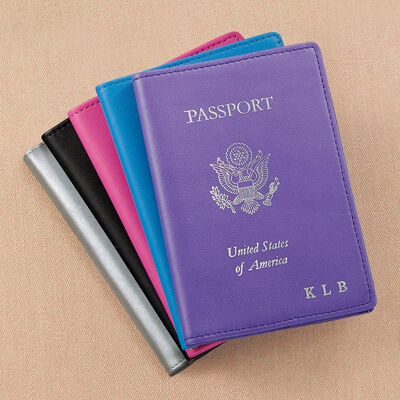 Royce Leather Three-Initial Passport Case, , default