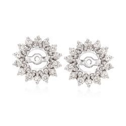 .99 ct. t.w. Diamond Earring Jackets in 14kt White Gold, , default