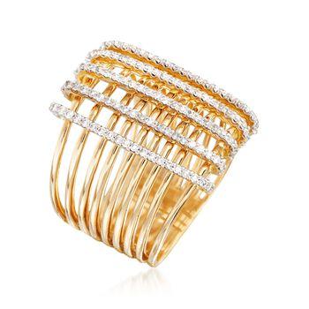 .59 ct. t.w. Diamond Crisscross Ring in 14kt Yellow Gold, , default