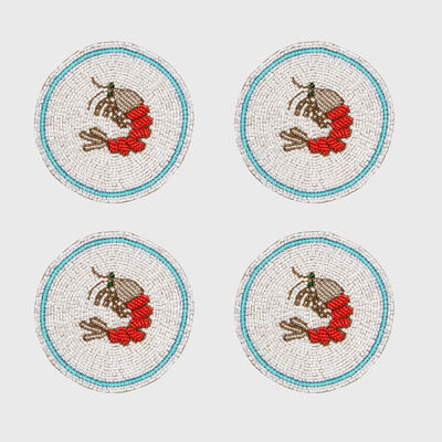 Joanna Buchanan Set of 4 Shrimp Coasters, , default