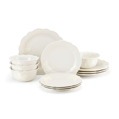 "Lenox ""Butterfly Meadow"" White Stoneware Dinnerware Set, , default"