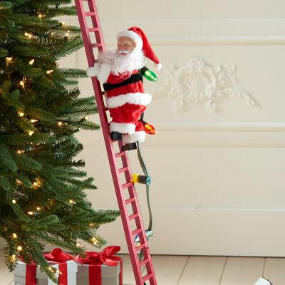 Mr. Christmas Super Climbing Ladder Santa , , default