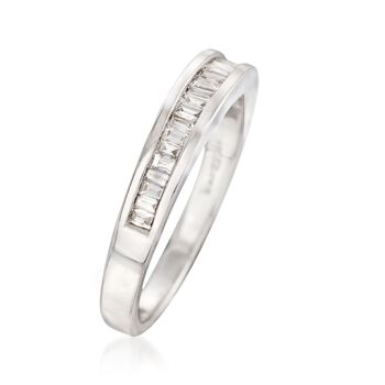 .23 ct. t.w. Baguette Diamond Ring in 14kt White Gold, , default