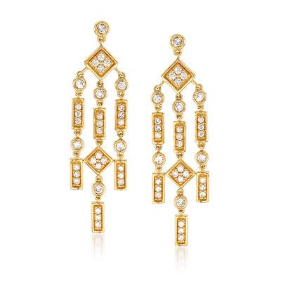 1.00 ct. t.w. Diamond Chandelier Drop Earrings in 14kt Yellow Gold, , default