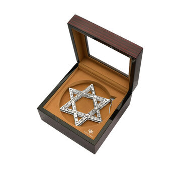 Crystamas Swarovski Crystal White Rhodium-Plated Star of David Ornament