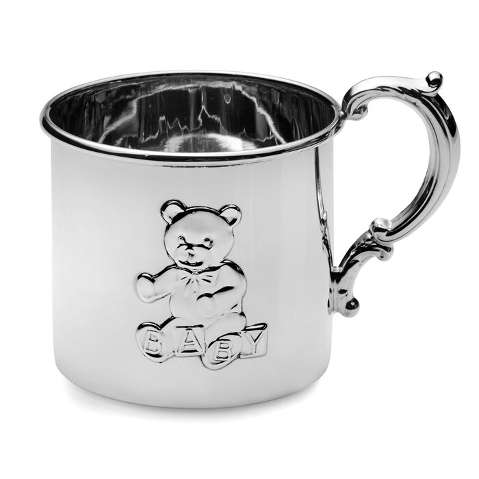 Empire Sterling Silver Teddy Bear Baby Cup, , default