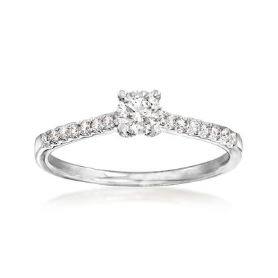 .51 ct. t.w. Diamond Engagement Ring in 14kt White Gold, , default