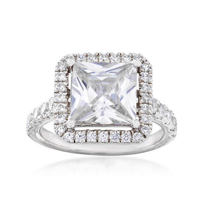 4.39 ct. t.w. CZ Frame Ring in Sterling Silver