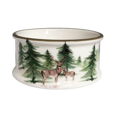 "Abbiamo Tutto ""Woodlands"" Ceramic Pet Bowl from Italy"